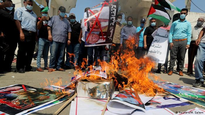 Gaza Stadt | Protest gegen Abkommen in Washington